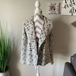 Lucky Brand Aztec Sweater Jacket